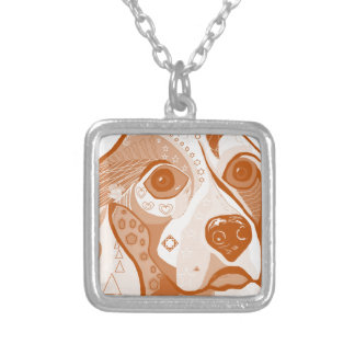Beagle Brown Tones Silver Plated Necklace