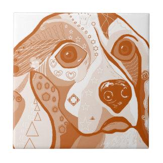 Beagle Brown Tones Tile