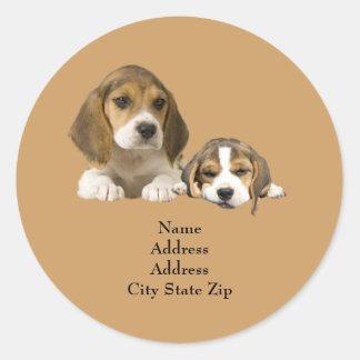 Beagle Buddies Address Label Stickers