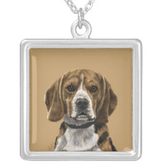 Beagle called Jones Silver Plated Necklace