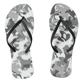Beagle camouflage thongs