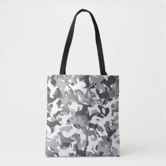 Beagle camouflage tote bag