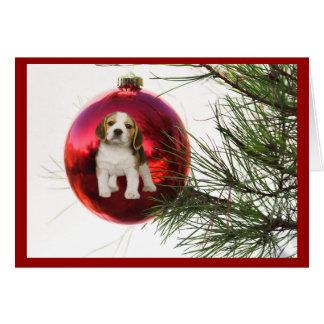 Beagle Christmas Card Ball