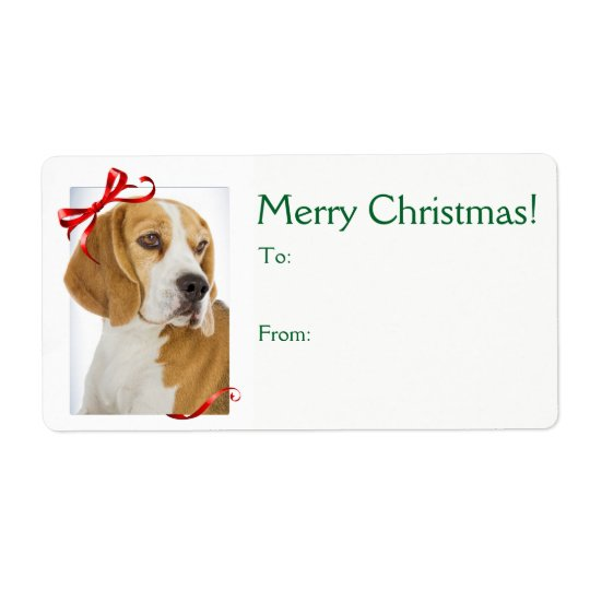 Beagle Christmas Gift Stickers
