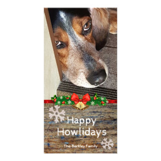 Beagle Christmas Photo Happy Howlidays Card