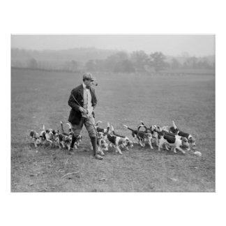 Beagle Club, 1914 Poster