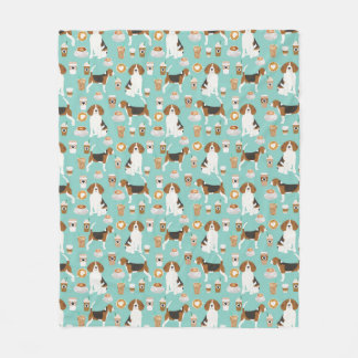 Beagle Coffee Throw Blanket