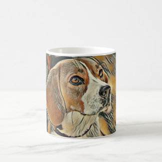Beagle, Color Sketch. Coffee Mug