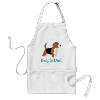 Beagle Dad Drawing Text Dog Lovers Standard Apron