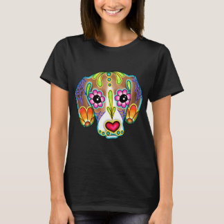 Beagle - Day of the Dead Sugar Skull Dog T-Shirt
