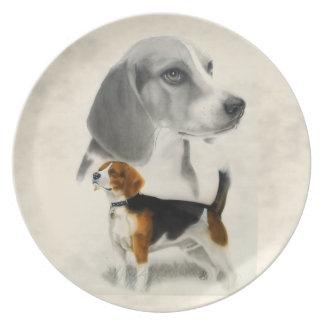 Beagle Dinner Plates
