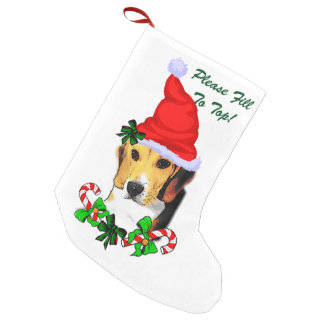 Beagle Dog  Christmas Small Christmas Stocking