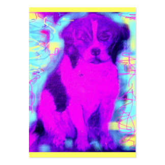 beagle dog popart pack of chubby business cards
