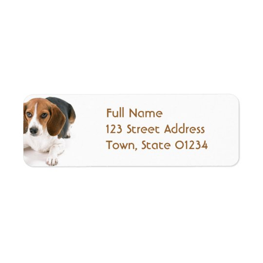 Beagle Dog Return Address Mailing Label