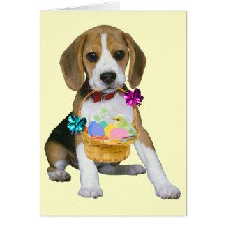 Beagle Easter - Customized Card