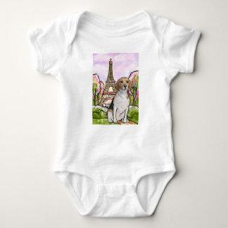 beagle eiffel tower paris baby bodysuit
