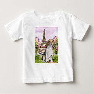 beagle eiffel tower paris baby T-Shirt