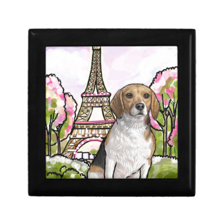 beagle eiffel tower paris gift box