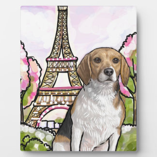 beagle eiffel tower paris plaque