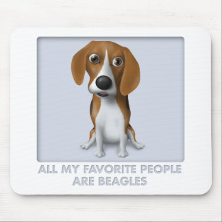 Beagle Favorite BEA1 Mouse Pad