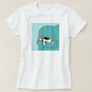 Beagle Happy Couch Dog T-Shirt