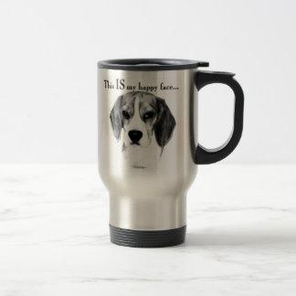 Beagle Happy Face Travel Mug