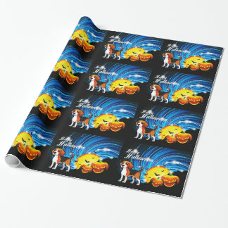 Beagle Happy Halloween Wrapping Paper