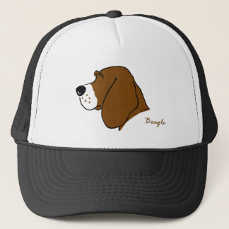 Beagle head silhouette trucker hat