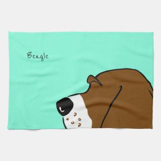 Beagle Head Tea Towel