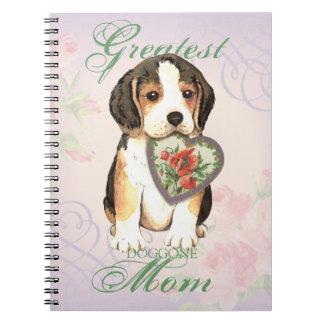 Beagle Heart Mom Spiral Notebook