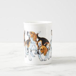beagle hound bone china mug