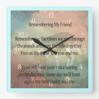 Beagle Hound Pet Memorial Wall Clock