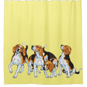 Beagle Hounds Shower Curtain
