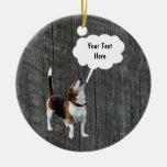Beagle Howling Customisable Dog Ornament