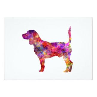 Beagle in watercolor 2 card