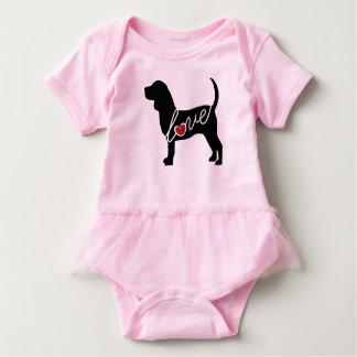 Beagle Love Baby Bodysuit