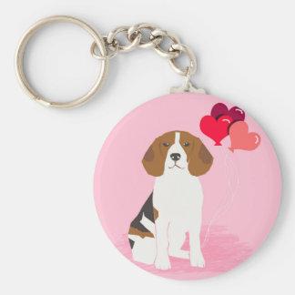Beagle Love Balloon Keychain - cute dog