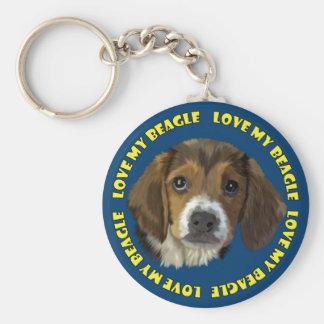 Beagle Love My Beagle Key Ring
