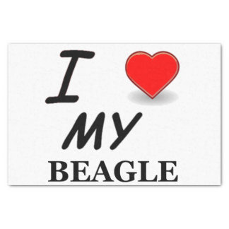 beagle love tissue paper
