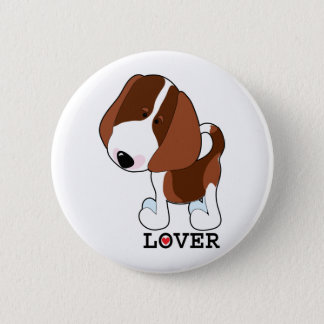 Beagle Lover 6 Cm Round Badge