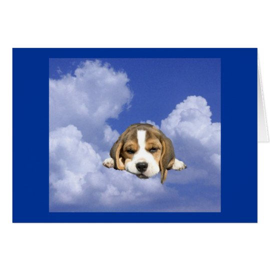 Beagle Loving You Is Heavenly Card