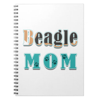 Beagle Mom Dog Colors Spiral Note Books