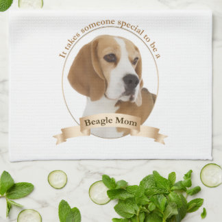 Beagle Mom Kitchen Towel