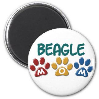 BEAGLE MOM Paw Print 6 Cm Round Magnet