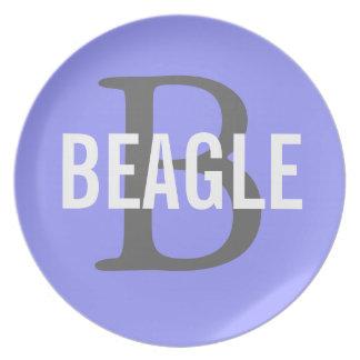 Beagle Monogram Plate