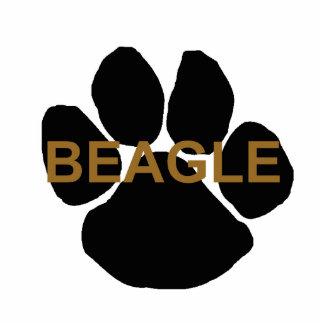 beagle name paw photo sculpture key ring