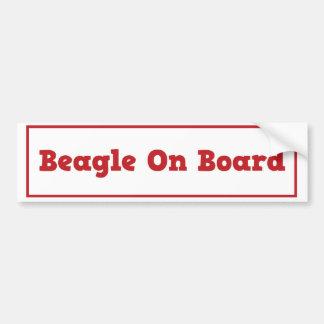 Beagle On Board Bumper Sticker