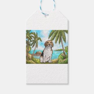 Beagle on Vacation Tropical Beach