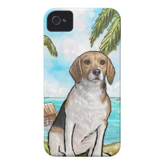 Beagle on Vacation Tropical Beach Case-Mate iPhone 4 Cases