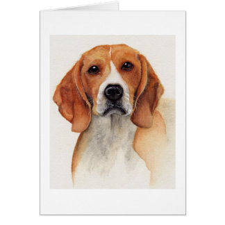 Beagle Painted in Watercolour Card